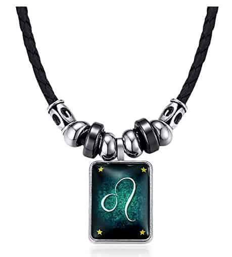 leather alloy necklace