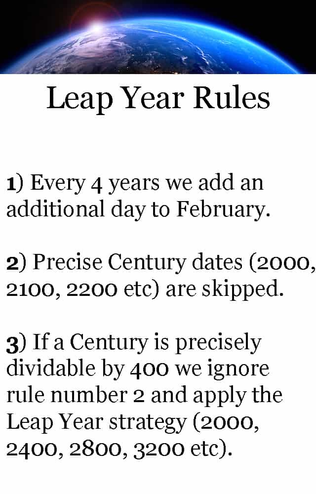 leap year rules